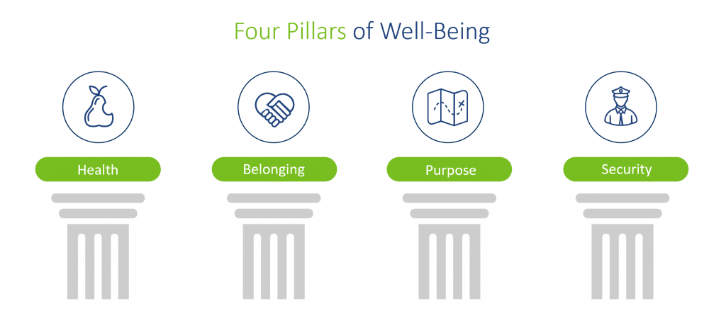 What are the pillars of wellbeing?