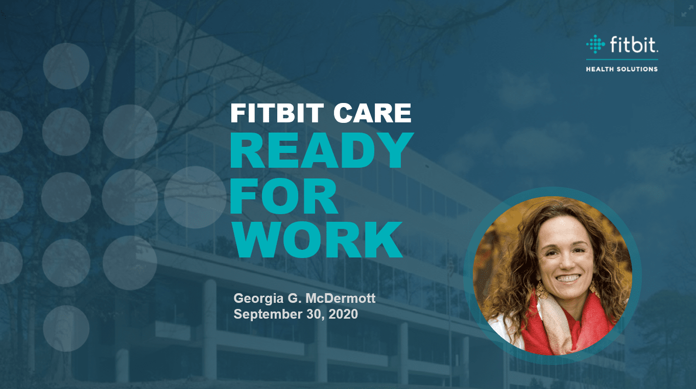 Fitbit Care Ready for Work