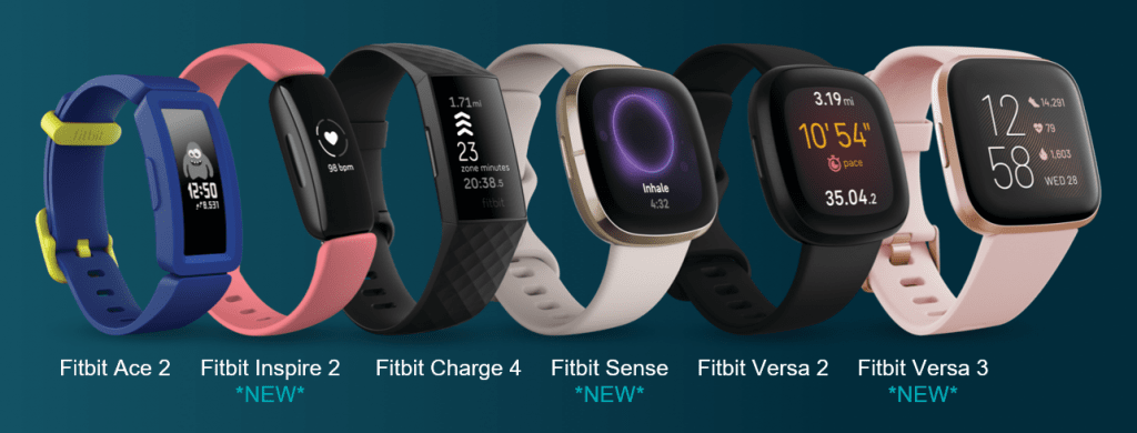 Fitbit's 2020 fall line up of wearable devices